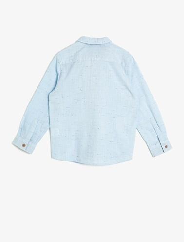 Koton Kids Papyon Detayli Gömlek Mavi